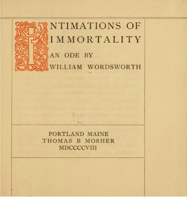 'Intimations of Immortality' by William Wordsworth