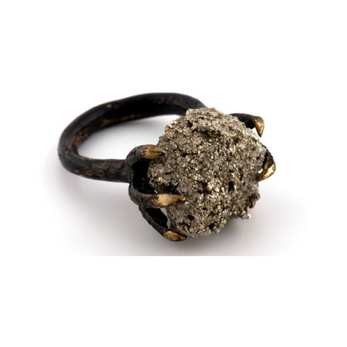 fools gold claw ring
