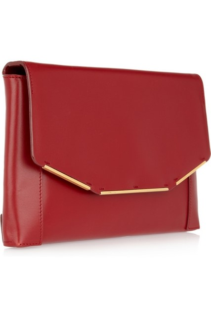 Leather Envelope Clutch, Lanvin