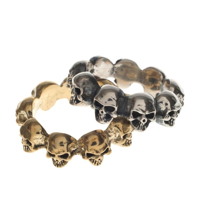 Skull rings in gold and silver by Silver Service