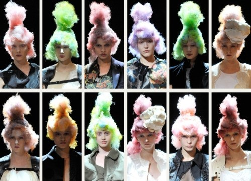 Curly Confectionery Hair at Comme des Garcons S/S10