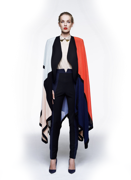 Mondrian cape by Paper London
