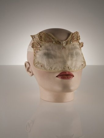 Hand embroidered translucent mask
