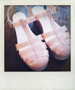 Jelly shoes by Chanel