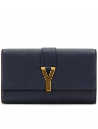 Yves Saint Laurent - LEATHER CLUTCH WITH SIGNATURE CLOSURE