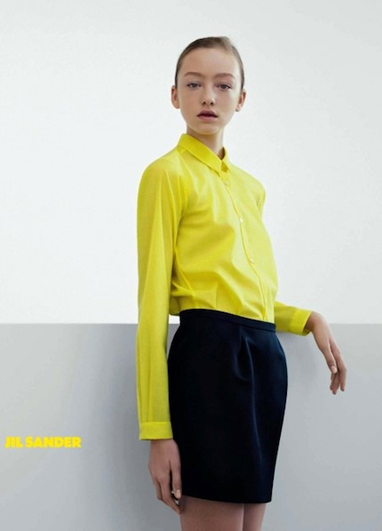 Jil Sander yellow shirt