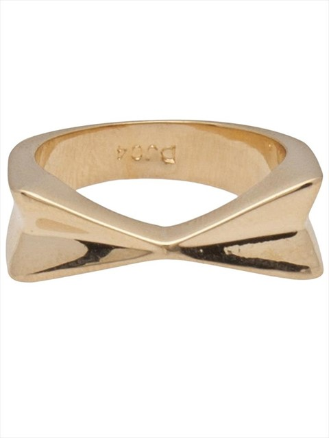 Dominic Jones joined arrow ring in yellow gold