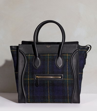 Tartan Luggage Tote by Céline