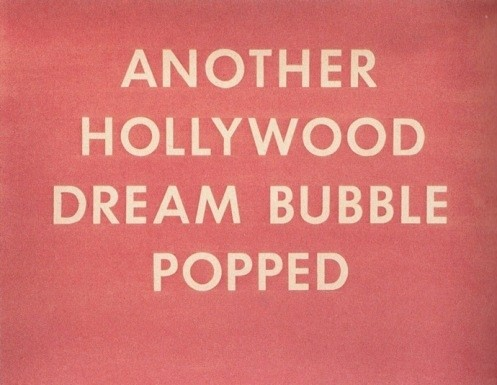 Another Hollywood Dream Bubble Popped by Ed Ruscha