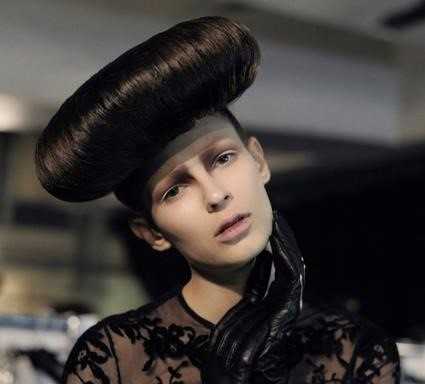 Hair rolls at McQ S/S12