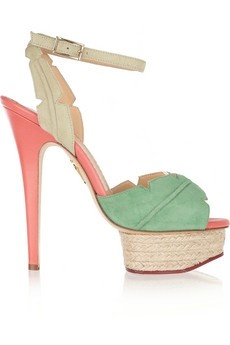 Charlotte Olympia, 'Isla Palm Leaf' Sandals