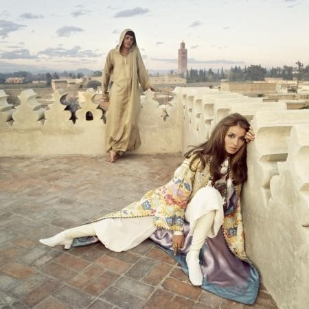 PAUL AND TALITHA GETTY, MARRAKECH, MOROCCO, JANUARY 1969