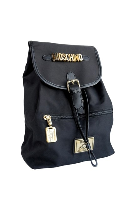 Moschino Black Backpack