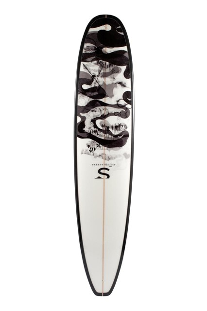 Paul Smith x Swami's custom surf board