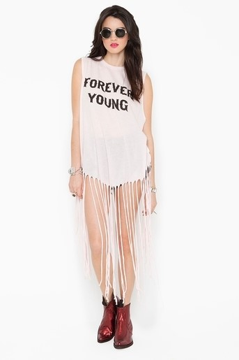 Wildfox Forever Young Fringe Tank