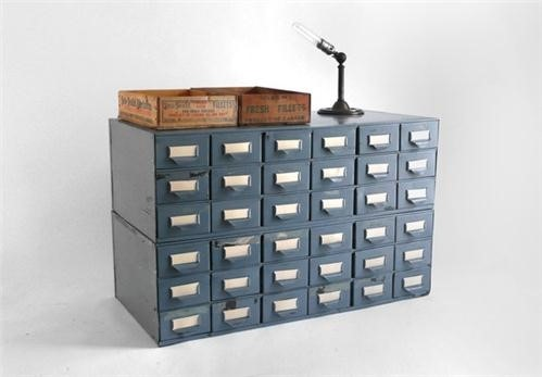 Vintage Metal Card Catalog by Hindsvik