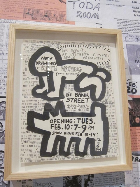 KEITH HARING: 1978-1982 @ BROOKLYN MUSEUM - FLYER FROM 1981