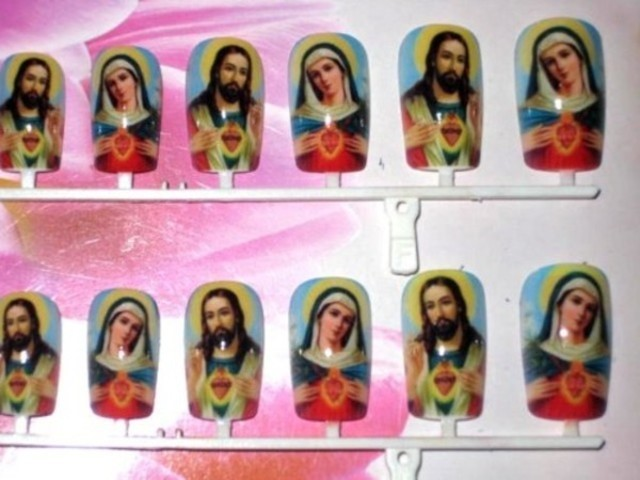 Virgin Mary and Jesus Nails