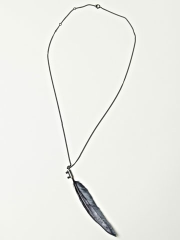 Ann Demeulemeester Men's Feather Necklace