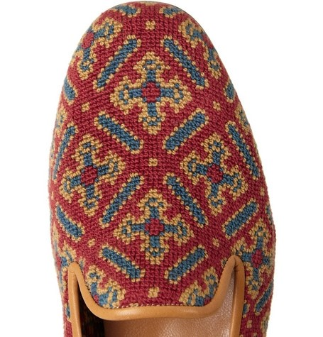 Stubbs & Wootton's embroidered tapestry slippers