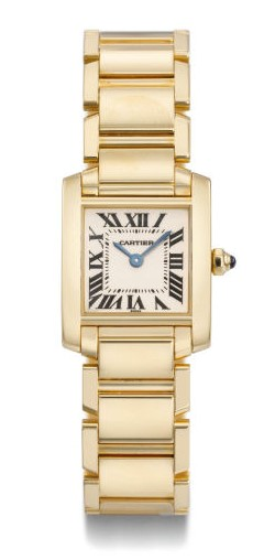 Cartier, Tank Française Model 18k Gold