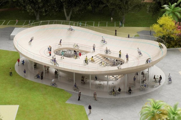 THE BICYCLE CLUB ROOFTOP VELODROME IN HAINAN, CHINA