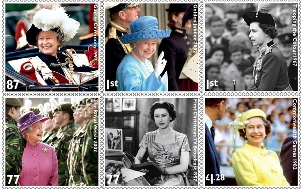 Royal Mail Diamond Jubilee stamps