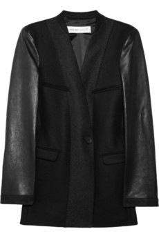 See by Chloé wool-blend and leather jacket