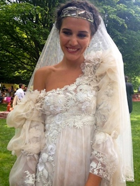 Margherita Missoni's wedding dress
