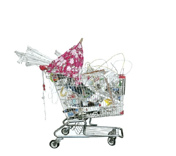 TAIZO YAMAMOTOS SHOPPING CART ILLUSTRATIONS