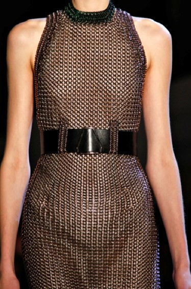 Yves Saint Laurent A/W12 chainmail dress