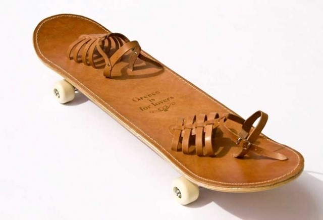 Tougher than Leather skateboard by Greece is for Lovers