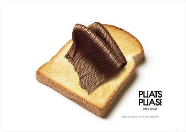 Nutella on toast/ Pleats Please