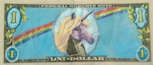 """One Hundred Dollars"" exhibition, by Maria Kozak"