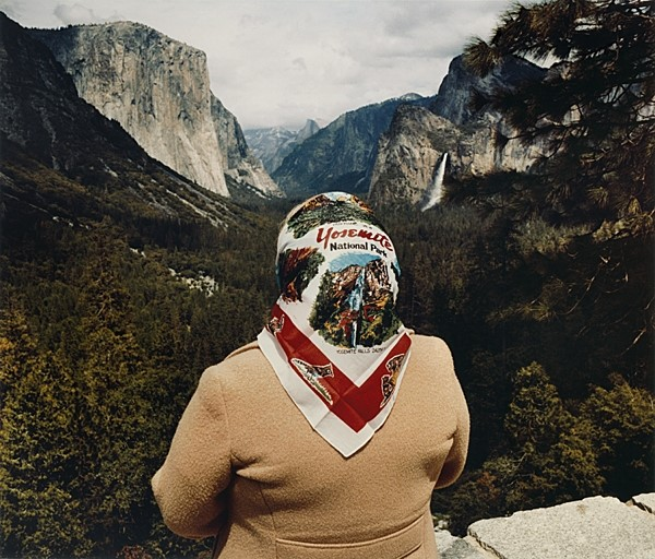 Woman with Scarf at Inspiration Point, 1980
