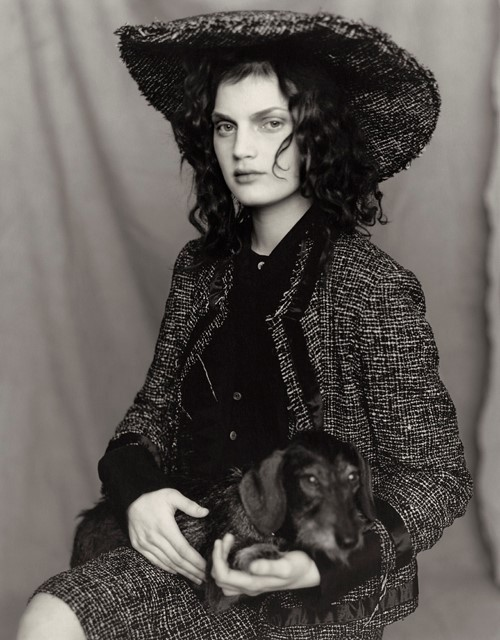 Guinevere Van Seenus with Irene Silvagni's dog
