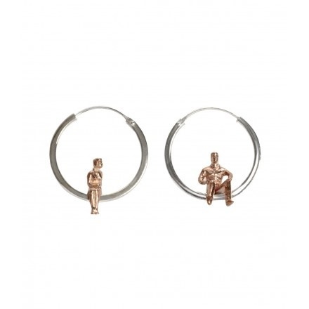 Little Citizen Silver Hoop Earrings by Kyle Hopkins