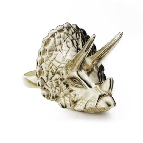 Triceratops Ring by Emma Franklin