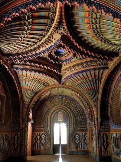 The Peacock Room at Castello di Sammezzano