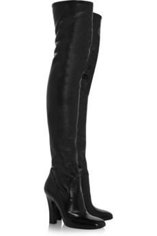 Leather thigh-high boots by Yves Saint Laurent