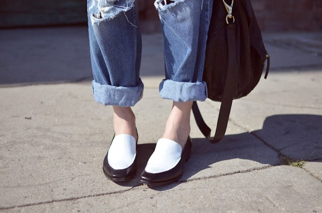 Vintage Levi's and Jil Sander Loafers