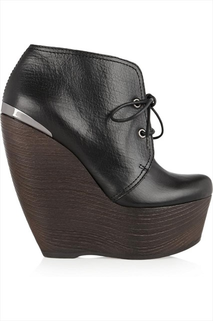Lanvin leather wedges