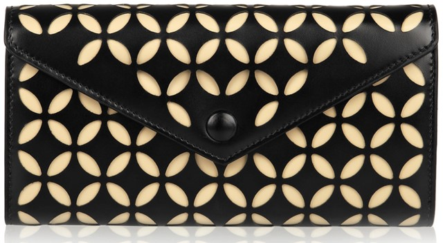 Alaïa laser-cut leather wallet