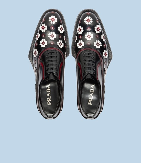Prada applique brogues