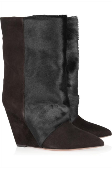Isabel Marant calf hair & suede boots