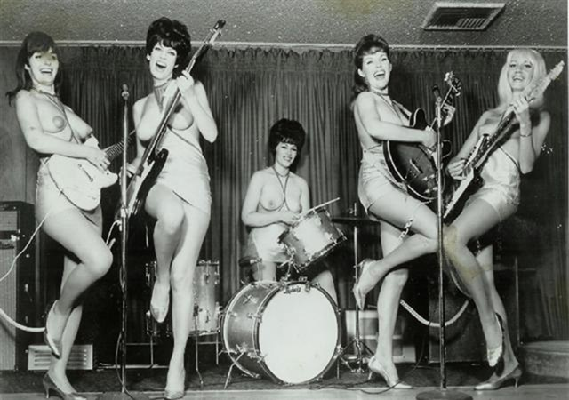 The LadyBirds Band -- World's 1st Topless All-Girl Band  spaceghetto