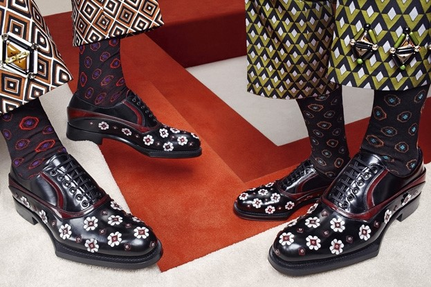 Prada AW12 brogues and socks