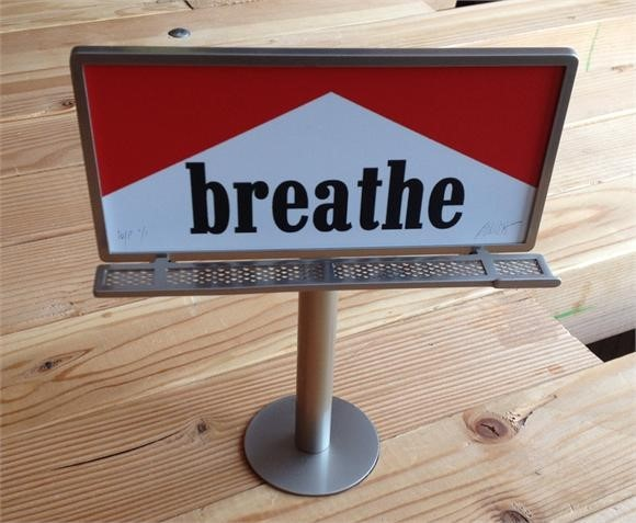 RON ENGLISH 'BREATH' MINI METAL BILLBOARD