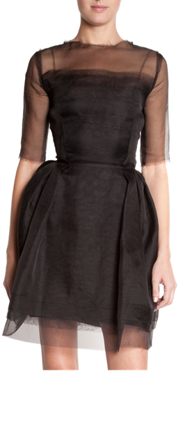 Lanvin Sheer Sleeve Dress