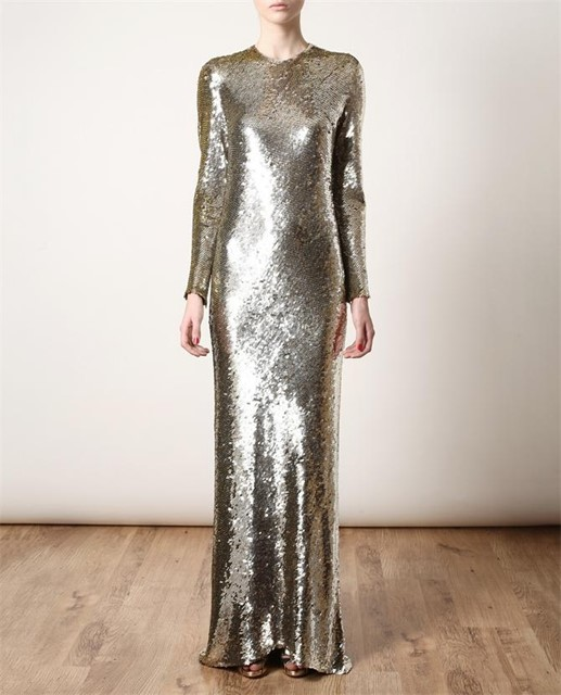 Ashish handcrafted sequin column dress